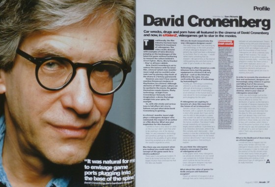 Arcade: Profile: David Cronenberg