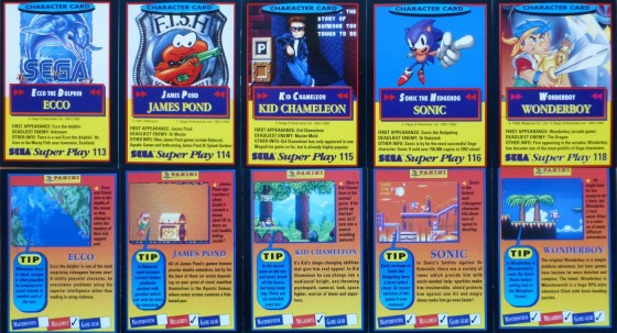 Sega Super Play: character cards