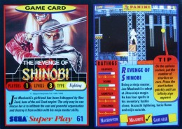 Sega Super Play: Revenge of Shinobi game card