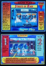 Sega Super Play: Streets of Rage gameplay card