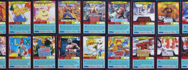 Sega Super Play Cards