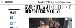 The story of WWE and our ill-fated YouTube channel