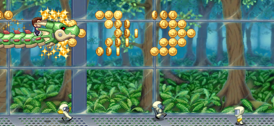 So why is it different to, say, Jetpack Joyride? Ah, because that's a bag of Haribo Starmix. Whereas Don't Run With A Plasma Sword is fairly uniform ...